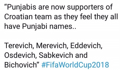 Punjabis supporting Croatia