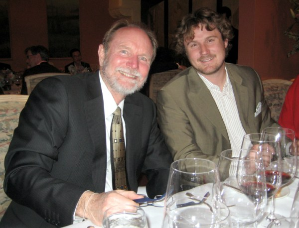Joel Peterson and Morgan Twain-Peterson at Barbaresco dinner earlier in the year