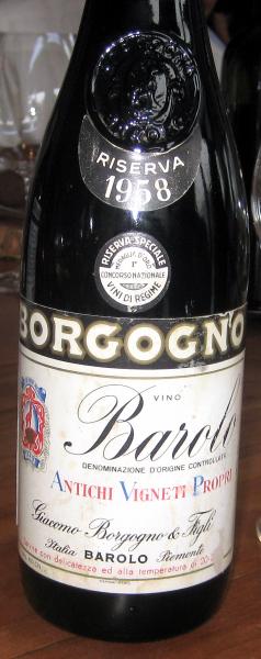 1958 Giacomo Borgogno Barolo