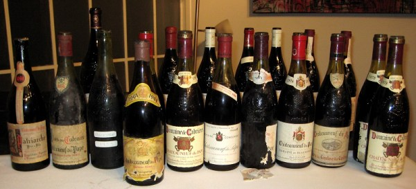 great old Chateauneuf-du-Papes collected by Harry Karis