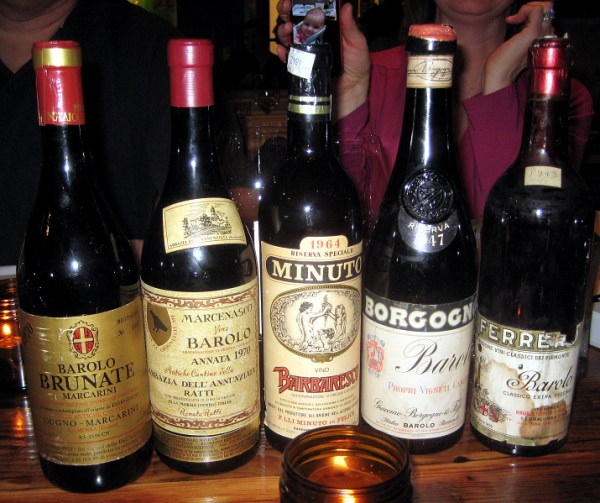old Barolos including '43 Eredi Virginia Ferrero