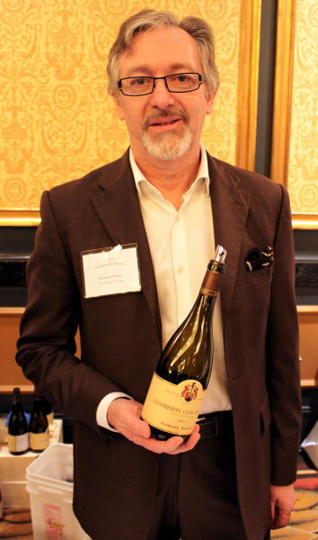 Laurent Ponsot at La Paulée (photo courtesy of Gary Chevsky)