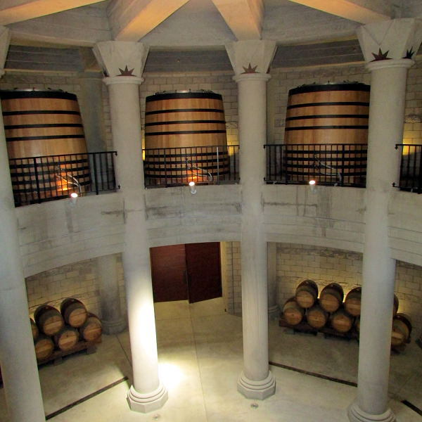 rotunda entrance to extensive barrel rooms at Star Lane