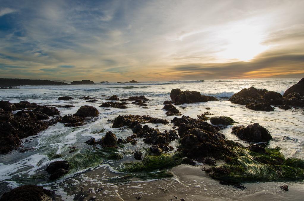 Pescadero Beach at Sunset