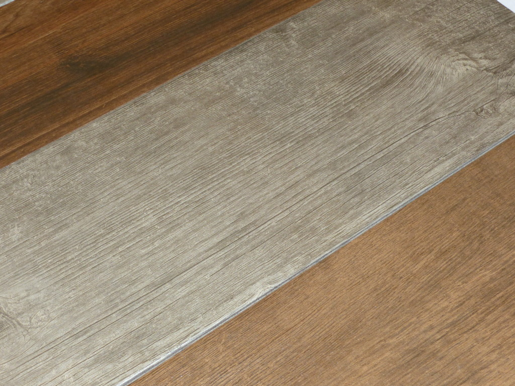 wood grain ceramic and vinyl in tiles