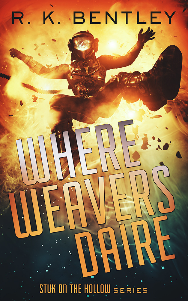 The cover to Where Weavers Daire by R. K. Bentley by Damonza.com