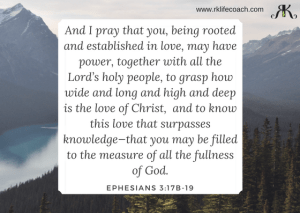 Ephesians 3:17b-19