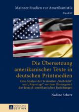 Die Übersetzung amerikanischer Texte in deutschen Printmedien