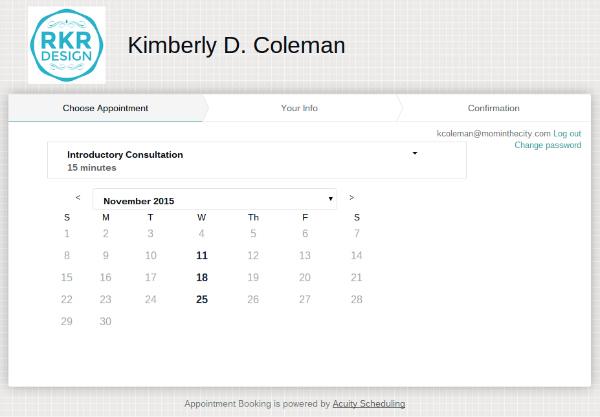 kim's schedule