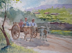 Bullock-cart-by-M-K-Kelkar(Wind in teh Jug)