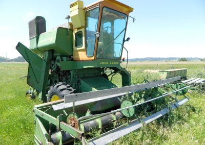 Old John Deere harvester