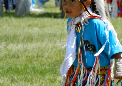 Native American dancer boy
