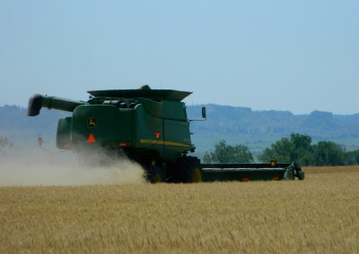 Wheat harvest along the Pine Ridge, Nebraska