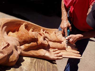power wood carving