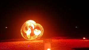 Koh Tao - abendliche Feuershow