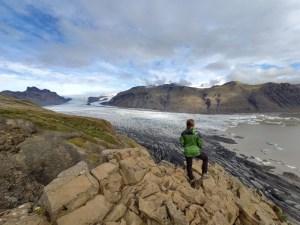 Ariane ist hin und weg bei dieser Aussicht auf Islands Gletscher