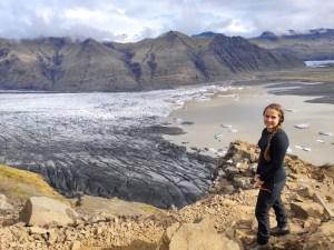 Blick auf einen Gletschersee