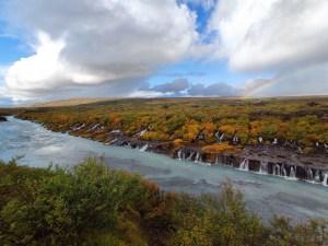 Hraunfossar Wasserfall