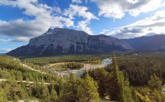 Hoodoo Trail mit Blick aufs Bow Valley bei Banff