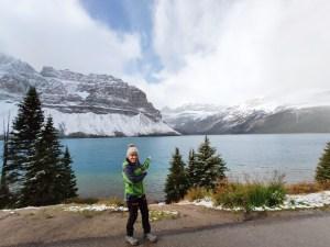 Ariane vor dem Bow Lake