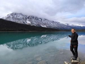 ein Spiegelsee am Icefields Parkway