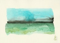 10 04 17, watercolor, by R.L. Gibson SOLD