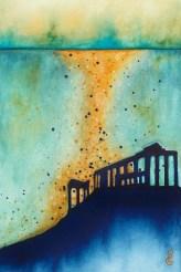 "Atlantis, 6""x9"" watercolor, by RLGibson"