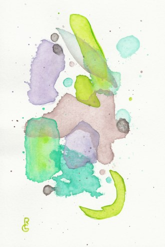 Sodden, watercolor, by R.L. Gibson