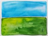 """Cheraw Green"" (5""x7"" watercolor on 140lb waterpress) by R.L. Gibson"