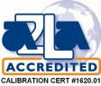 ala accredited logo: calibration cert #1620.01