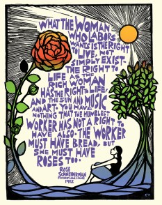 Bread and Roses poster by Ricardo Levins Morales