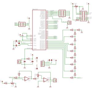 AVR DDS signal generator V20 Part 1 Schematic