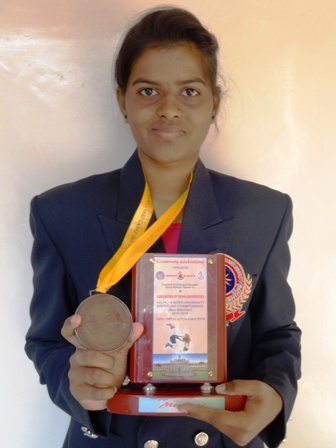 1. Ms. Nikita Ambuskar B.Sc.II, Colour Coat in Judo & Wrestling
