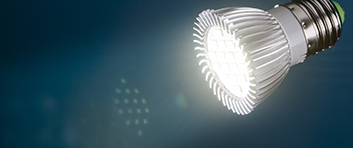 led light with flare