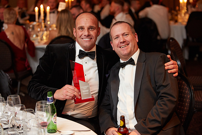 Steve Cargill at the Electrical Industry Awards 2019
