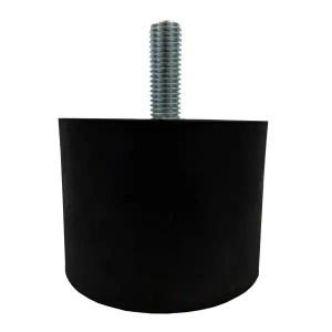 Tampon              amortisseur cylindrique caoutchouc Ø70 x 50 mm • Tige filetée M10 x 30 mm