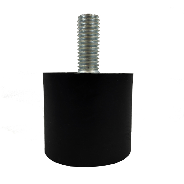 Tampon                     amortisseur cylindrique caoutchouc Ø40 x 35 mm • Tige filetée M10 x 25 mm