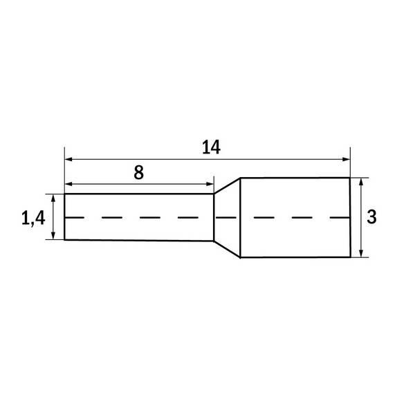 Embout de câblage 1 mm² Rouge
