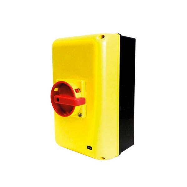 Interrupteur sectionneur 3P cadenassable en coffret •       100 A