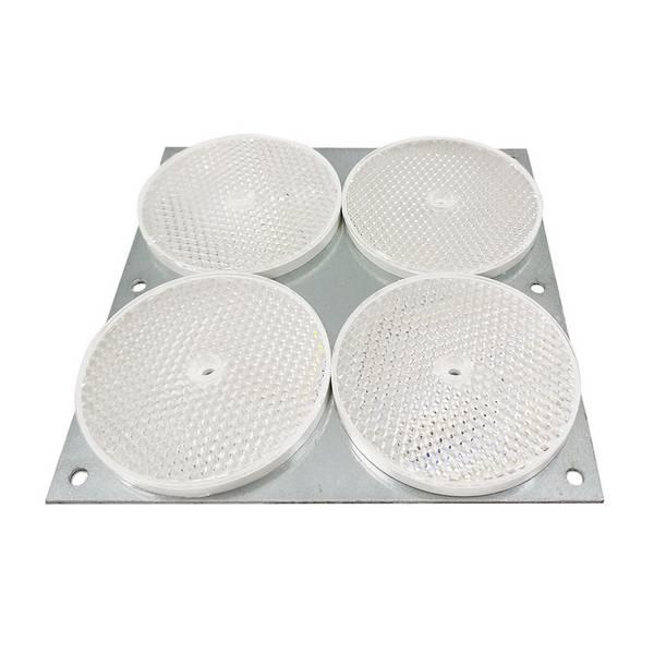 4 Réflecteurs rond sur tôle Ø 84 mm