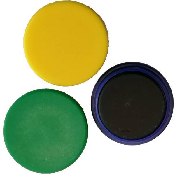 Aimant            de tableau diamètre 25 mm jaune