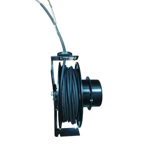 Enrouleur de câble à ressort tambour ouvert • Câble 4G2,5 • 26/28 m
