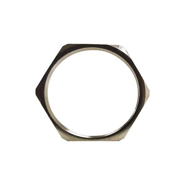 Ecrou pour presse-étoupe en laiton nickelé • PG16