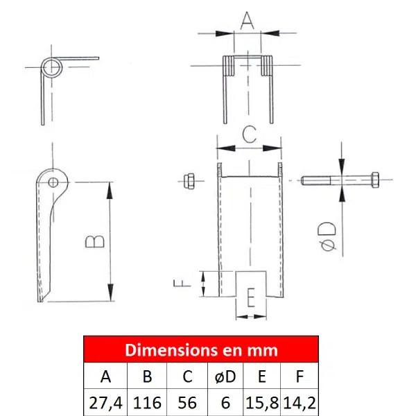 Linguet de sécurité 2DS-0D8