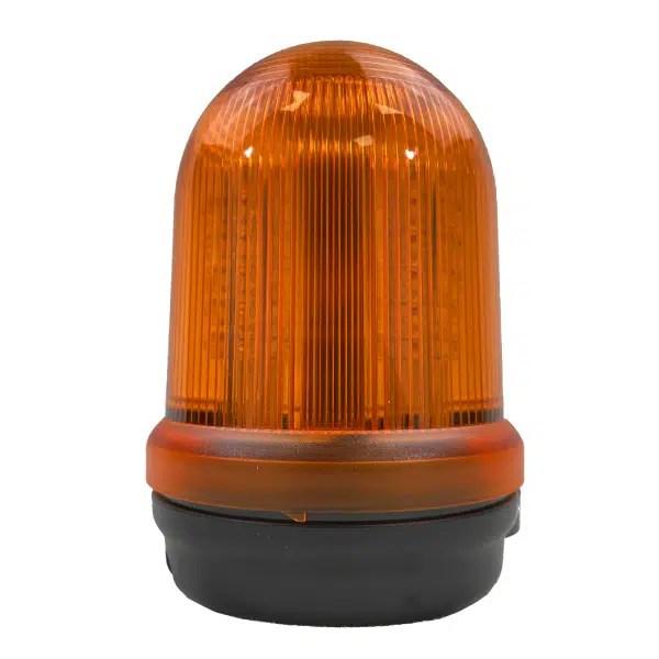 Feu double flash orange LED pour fixation sur fond plat