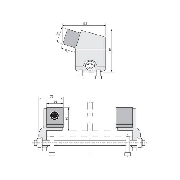 Butoir amovible en fonte d'acier pour chariot palan (25T maxi)