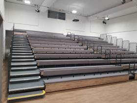 Grey stepped seating