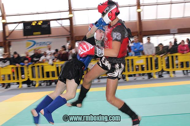 Elias Sbisa RMBOXING Rachid Saadi au Championnat Ile de France FFFKMDA K-1