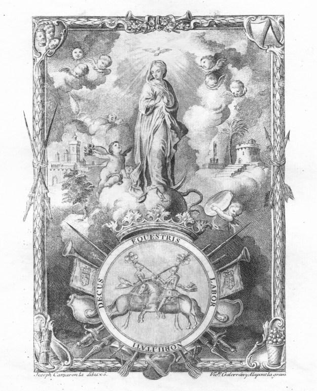 Grabado de la Inmaculada Concepción Patrona de este Real Cuerpo