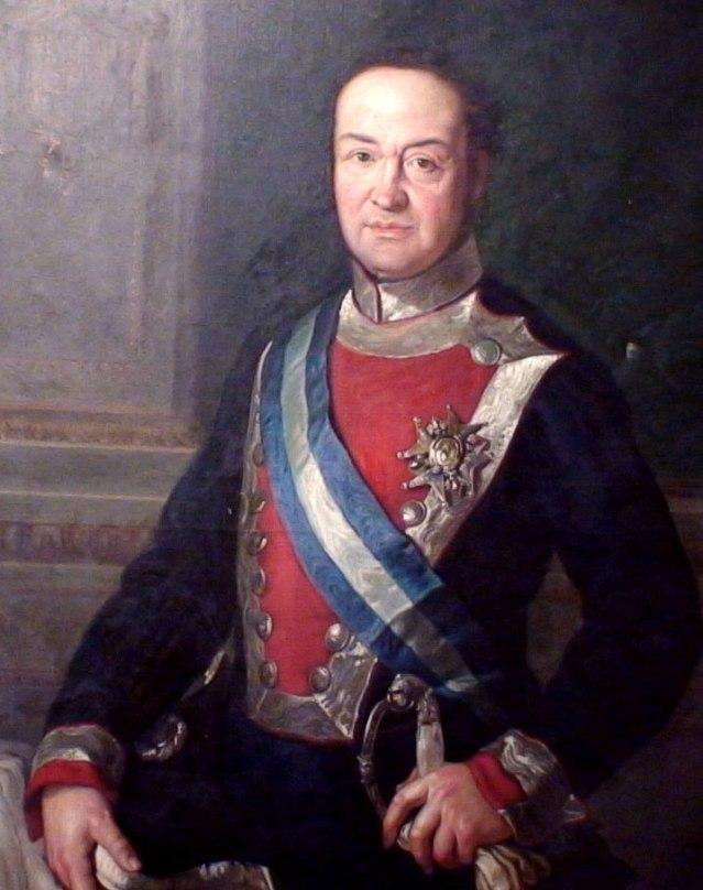 D. Felipe Mª. De Ossorio y de la Cueva, Castellví y Lacerda, Duque De Alburquerque, año 1814.